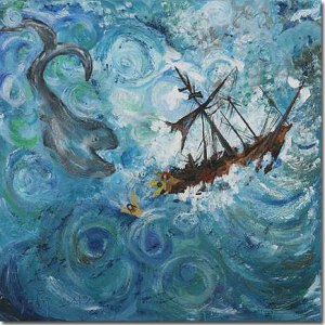 Jonah boat to Tarshish by Ruth Coleman